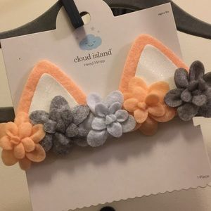 NWT floral fox headband cloud island